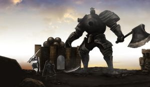 Dark Souls - Iron Golem by OniRuu