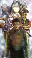 Shenmue Illustration Bad guys by phoonaru