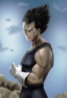 The powerful Vegeta by Shibuz4