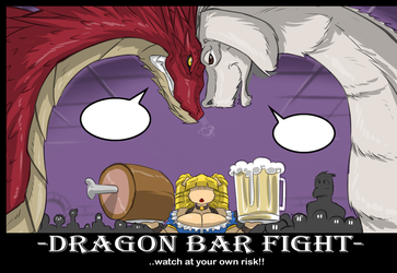 WHAT ARE THEY SAYING -Dragon Barfight- by ShoNuff44