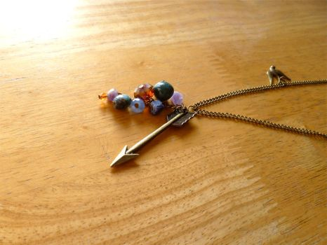 Katniss' Arrow Necklace Hunger Games Inspired Gems by Valethia
