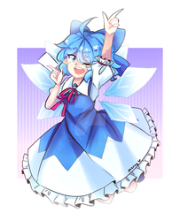Cirno (1h30m) by nekokomancer