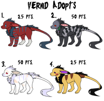 Vernid Adoptables [CLOSED] by AxolotDropbearAdopts