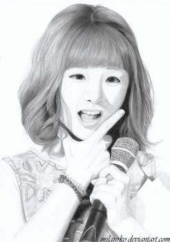 Ladies Code EunB Pencil drawing by MilanRKO