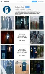 Doctor Who - The Tardis's Instagram page by DoctorWhoOne