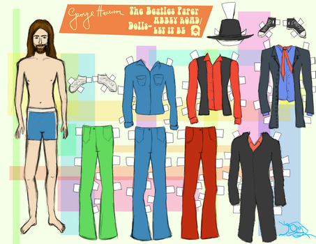 GEORGE HARRISON PAPER DOLL 4 by 89000007ANL