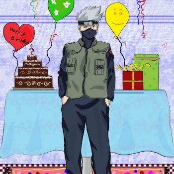 Happy birthday kakashi sama:D by Kuro-osagi