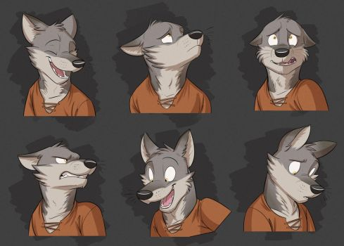 Commission: Kayden's Expression Sheet by Temiree