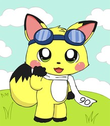 Sparky the fox says hi by pichu90