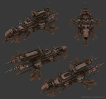 Sky Corsair - Pirate Airship by smurfbizkit
