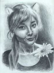 Cute girl portrait by Architect-of-Dreams