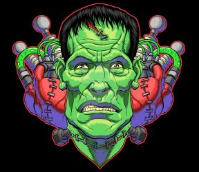 Frankenstein Shirt Design by monstrous64