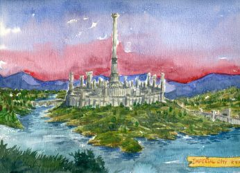 imperial city watercolor by mahart-TR
