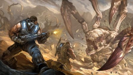Gears of War 3 contest entry by AndrewRyanArt