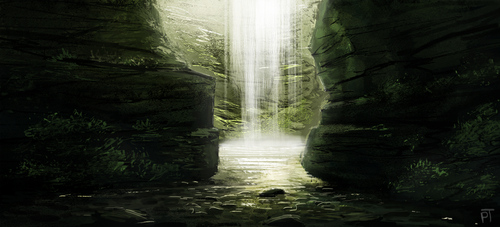Waterfall Speed Paint by Cryptid-Creations