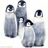 Penguins by Crooty