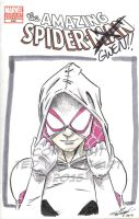 Amazing Spider-Man Sketch Cover--Spider-Gwen by tedwoodsart