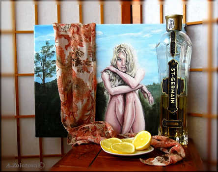 Still life with a unfinished portrait by AnnaZLove