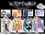 Adoptables - Palette Maidens $5 or Points (OPEN) by DirkannChannel