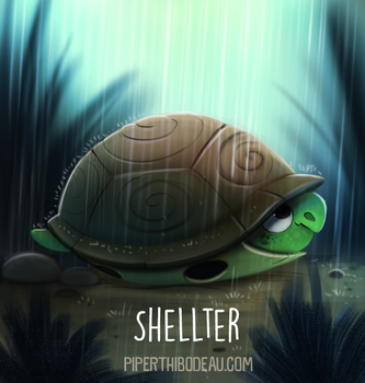 Daily Paint 1549. Shellter by Cryptid-Creations