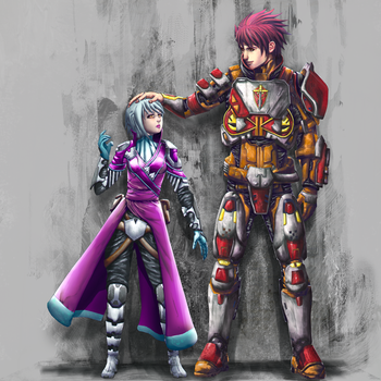 Warlock: Emma and Titan: Zack by Nasby321