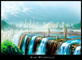 Aiur Waterfalls by highdarktemplar