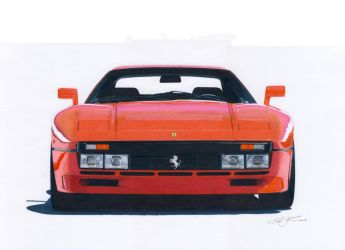 Ferarri 288 GTO frontview by klem