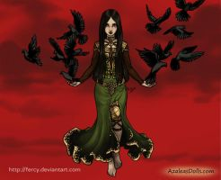 The phantom Queen - Morrigan - Azaleas Dolls by Fercy