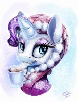 Snow Pony_Rarity by Tsitra360