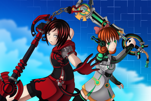 Ruby And Penny Crossover Kingdom hearts by colleenekat