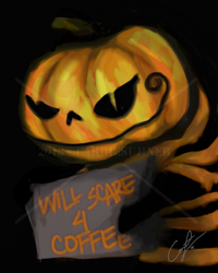 'Will Scare 4 Coffee'. by Angelix88