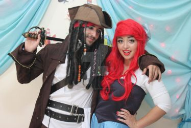 Ariel and Jack Sparrow by Mesh-Potatoes