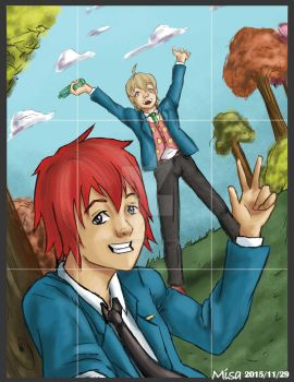 Tsuritama fan art 'Selfie' by DREAMSOFASINGER