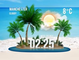Palm Trees Island for xwidget by Jimking