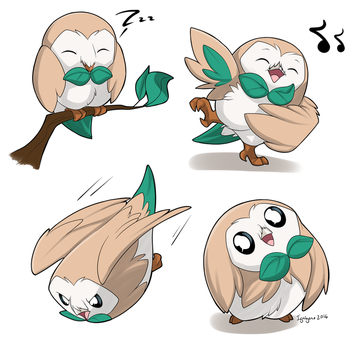 A bunch of Rowlets by ignigeno