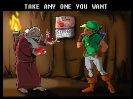 Old Man Gives Link a Valentine by LucasZebroski