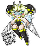 [RARE] stings like a bee clawpaw adopt (CLOSED) by goldneko