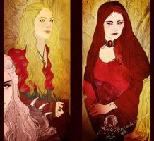 Cersei And Melisandre WIP by Chihyro