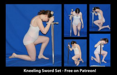 Free on Patreon - Kneeling Sword Set by SenshiStock