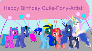 Cutie-Pony-Artist's B-Day by EmoshyVinyl