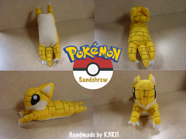 Sandshrew Plush by K3RI1