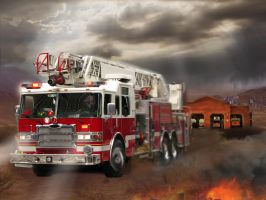 Fire truck by Horserider09 by Horserider09