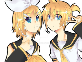 Kagamine Twins by Mail-mail