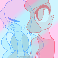 Ruby and Sapphire - True Love by SleepyStaceyArt