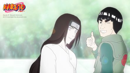 Naruto Fanart: Neji and Gai by moonlight-fox