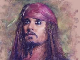 Pirate of Caribbean. Johnny Depp by cylevie