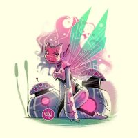 Robot Faerie by mikemaihack