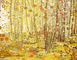 Yellow Trees by PawPrintArtists