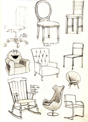 Sketchbook Page - Chairs by Anko6