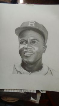 Jackie Robinson drawing by cdudley25